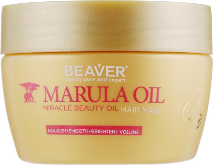 Маска для глубокого питания поврежденных волос с маслом Марулы - Beaver Professional Nourish Marula Oil Hair Mask