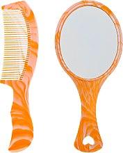 Парфумерія, косметика Дитячий набір, гребінець і дзеркальце, помаранчевий - Christian