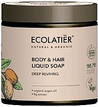 """Духи, Парфюмерия, косметика Мыло для тела и волос """"Глубокое восстановление"""" - Ecolatier Organic Aragan Body & Hair Liquid Soap"""