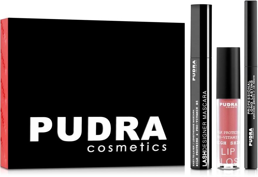 Набор - Pudra Try It Kit (mascara/10ml + pencil/3ml + gloss/2.5g)