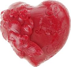"""Духи, Парфюмерия, косметика Глицериновое мыло """"Heart in love"""", красное - Bulgarian Rose Soap"""