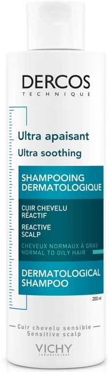 Успокаивающий шампунь для нормальных и жирных волос - Vichy Dercos Ultra Soothing Normal to Oil Hair Shampoo