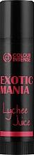 """Духи, Парфюмерия, косметика Бальзам для губ """"Exotic Mania"""" с ароматом личи - Colour Intense Lip Balm"""