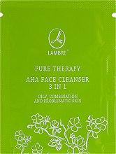 Духи, Парфюмерия, косметика Отшелушивающий и очищающий гель с АНА кислотами 3 в 1 - Lambre Pure Therapy AHA Face Cleanser 3 in 1 (пробник)