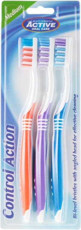 Набор зубных щеток - Beauty Formulas Control Action Toothbrush — фото N1