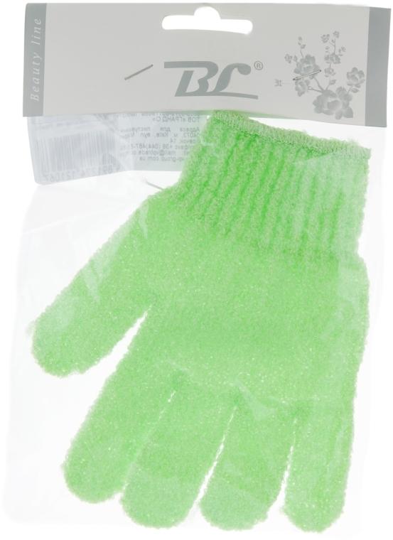 Мочалка-перчатка банная, светло-салатовая - Beauty Line