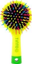Духи, Парфюмерия, косметика Детская щетка для волос, желтая с зеленым - Tinto