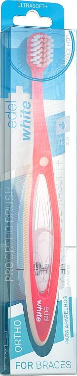 Ортодонтическая зубная щетка, розовая - Edel+White Pro Ortho Toothbrush
