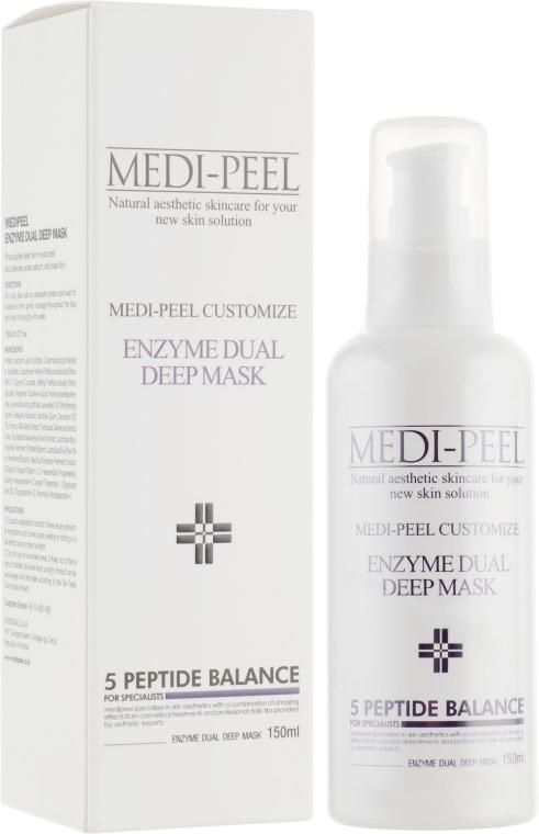 Энзимная маска с эффектом пилинга - Medi Peel Enzyme Dual Deep Mask