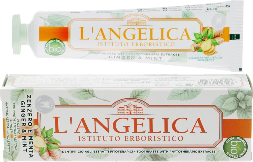"""Зубная паста """"Имбирь и мята"""" - L'Angelica"""