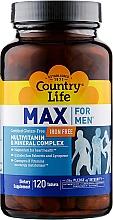 Духи, Парфюмерия, косметика Витаминно-минеральный комплекс для мужчин без железа - Country Life Max For Men Free Iron