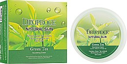 Духи, Парфюмерия, косметика Антивозрастной восстанавливающий крем для лица с гиалуроновой кислотой, экстрактом зеленого чая и витамином Е - Deoproce Natural Skin Green Tea