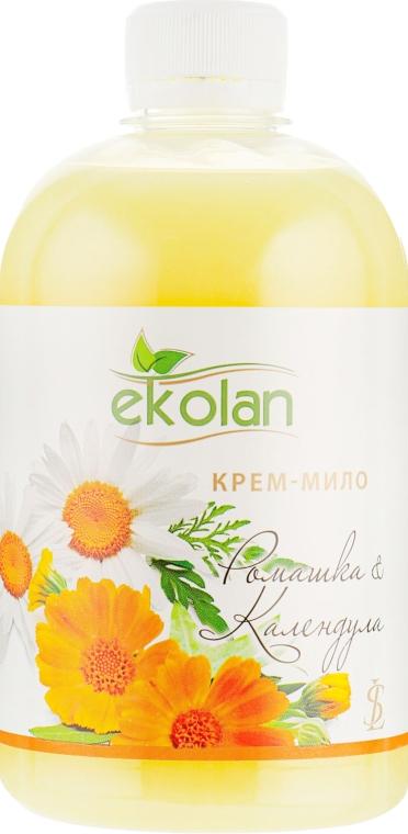 """Крем-мыло """"Ромашка-календула"""" - Ekolan (сменный блок)"""