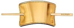Духи, Парфюмерия, косметика Заколка для волос - Balmain Barrette Leather Gold