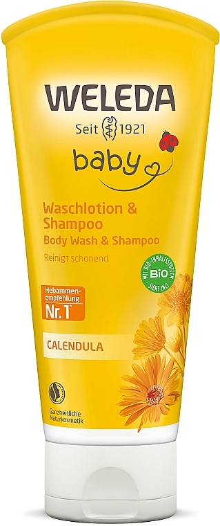 Шампунь-гель для тела и волос - Weleda Calendula Waschlotion & Shampoo