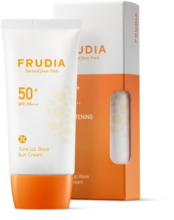Солнцезащитный крем-основа для лица - Frudia Tone Up Base Sun Cream SPF50
