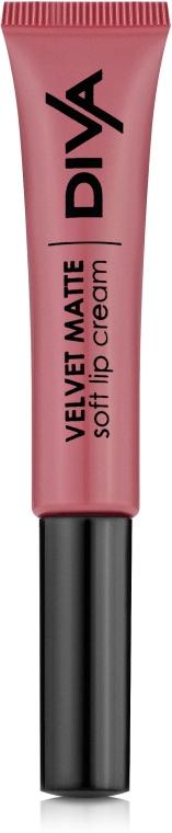 Матовый кремовый блеск для губ - Diva Velvet Matte Soft Lip Cream