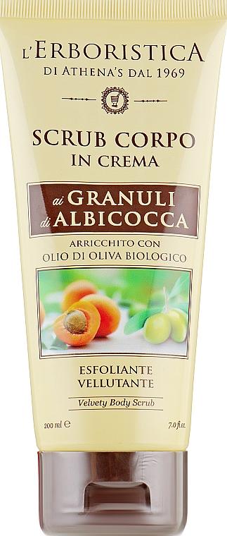 Скраб для тела с гранулами абрикосовых и оливковых косточек - Athena's Erboristica Velvety Body Scrub