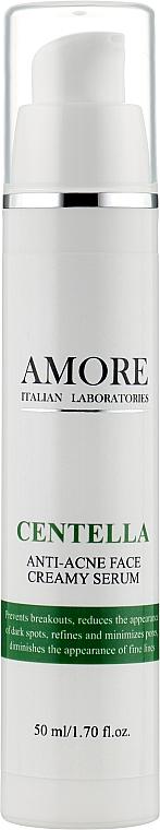Концентрированная крем-сыворотка с центеллой для лечения проблемной кожи - Amore Centella Anti-Acne Face Creamy Serum
