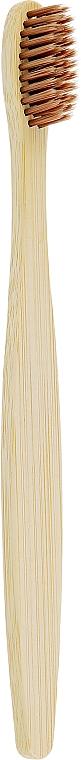 Бамбуковая зубная щетка, коричневая щетина - Eco Style