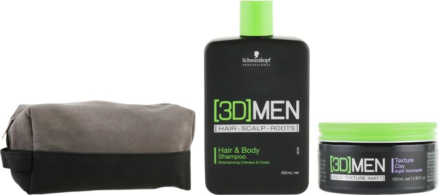 Набор - Schwarzkopf Professional [3D] Men'19 Set (sham/250ml + glay/100ml + pounch)