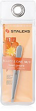 Духи, Парфюмерия, косметика Пинцет для бровей, широкие прямые кромки TBC-10/1 - Staleks Beauty & Care 10 Type 1