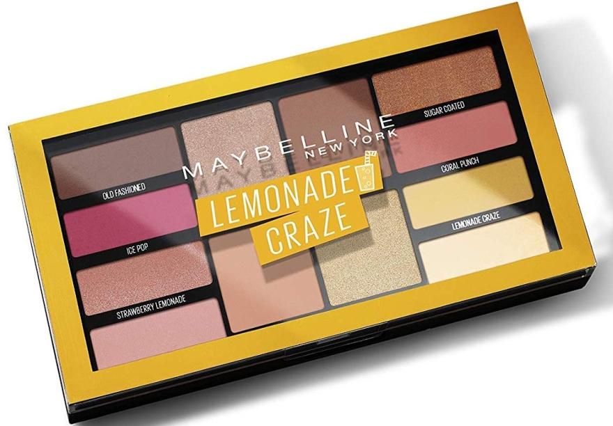Палетка теней на 12 оттенков - Maybelline New York Lemonade Craze Palette — фото N1