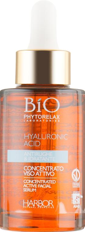 Гиалуроновая сыворотка - Phytorelax Laboratories Bio Concentrated Active Facial Serum — фото N2