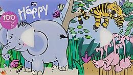 """Духи, Парфюмерия, косметика Платочки бумажные универсальные двухслойные """"Слон"""" - Bella Baby Happy"""