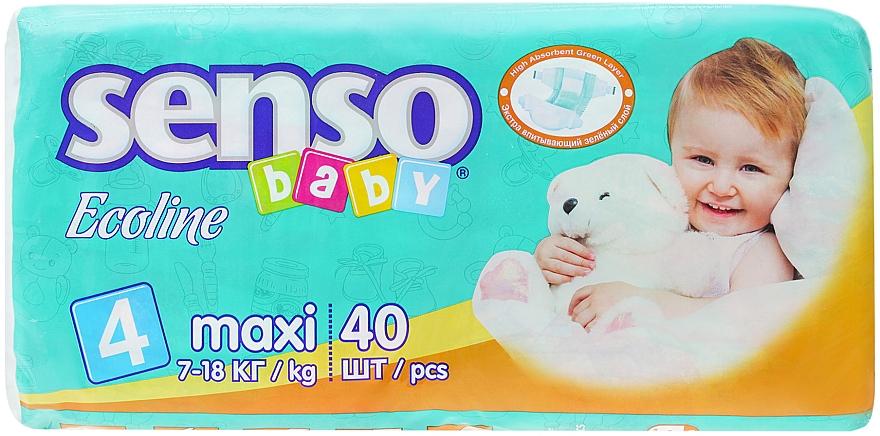 Подгузники Senso Baby Ecoline Maxi 4 (7-18 кг) 40 шт - Senso Baby