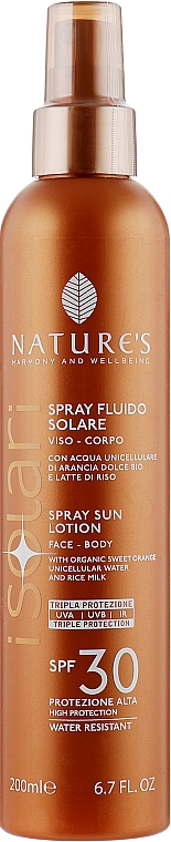 Солнцезащитный спрей для лица и тела - Nature's I Solari Spray Sun Lotion Spf 30