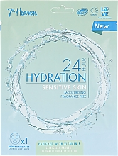 Духи, Парфюмерия, косметика Маска для чувствительной кожи - 7th Heaven 24H Hydration Sensitive Skin Sheet Mask