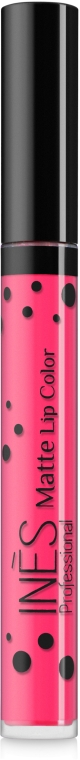 Жидкая помада для губ - Ines Professional Matte Lip Color