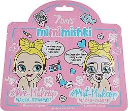 Духи, Парфюмерия, косметика Маска-праймер для лица - 7 Days Mimmishki Pre-Makeup & Post-Makeup Pink Edition