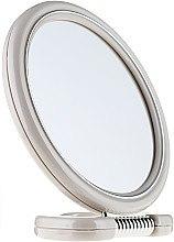 Духи, Парфюмерия, косметика Зеркало двустороннее круглое, на подставке, 9502, серое, 15 см - Donegal Mirror