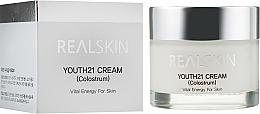 Духи, Парфюмерия, косметика Крем для лица с отбеливающим эффектом - Real Skin Youth 21 Cream Colostrum