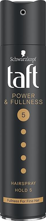 """Лак для волос """"Power. Сила Кератина"""", мегафиксация 5 - Taft Keratin Power 5"""