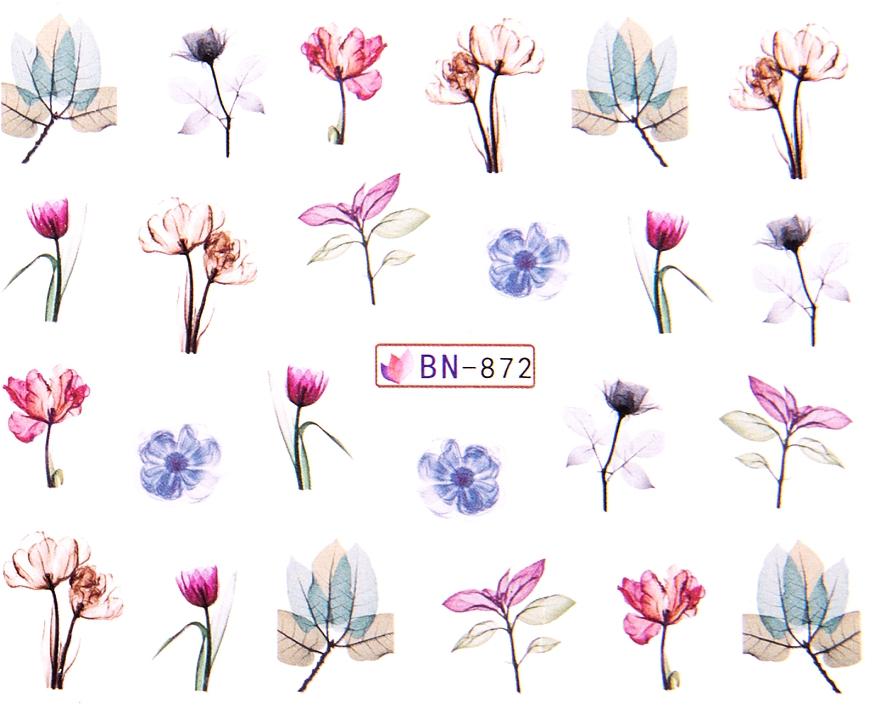 Водные наклейки для ногтей, BN - Vizavi Professional