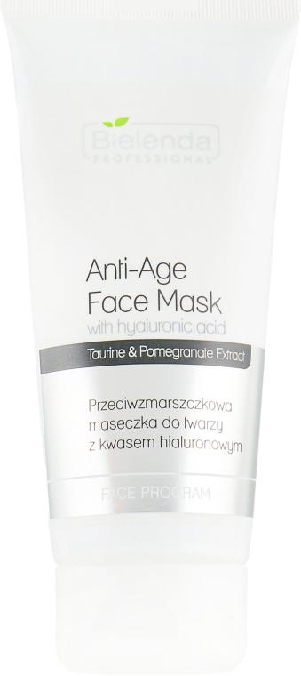 Маска против морщин с гиалуроновой кислотой - Bielenda Professional Face Program Anti-Age Face Mask With Hyaluronic Acid