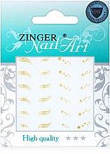Духи, Парфюмерия, косметика Наклейки золотистые для дизайна ногтей - Zinger Nail Art Sticker