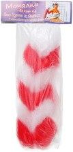 Духи, Парфюмерия, косметика Мочалка-вехотка для душа и ванны, бело-красная - Avrora Style