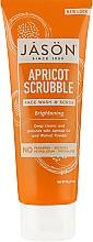 Духи, Парфюмерия, косметика Осветляющий абрикосовый скраб для лица - Jason Natural Cosmetics Facial Wash & Scrub