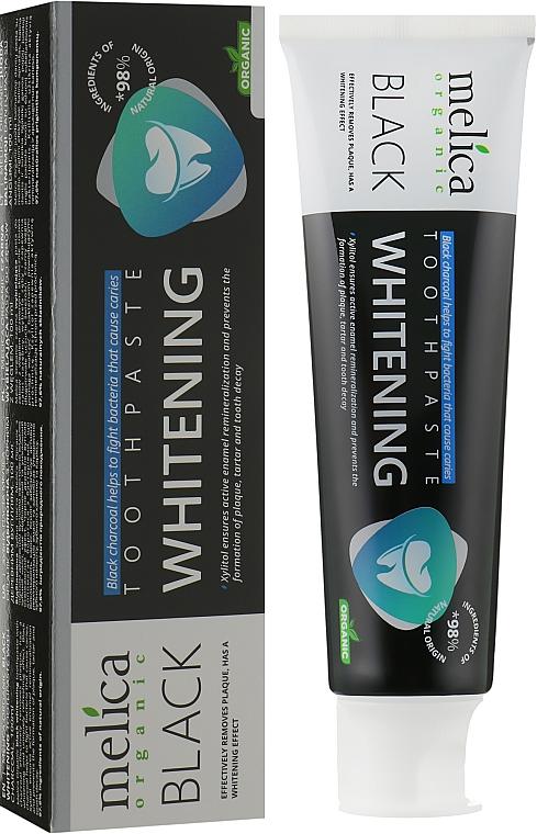 Зубная паста отбеливающая с черным древесным углем - Melica Organic Toothpaste Whitening Black