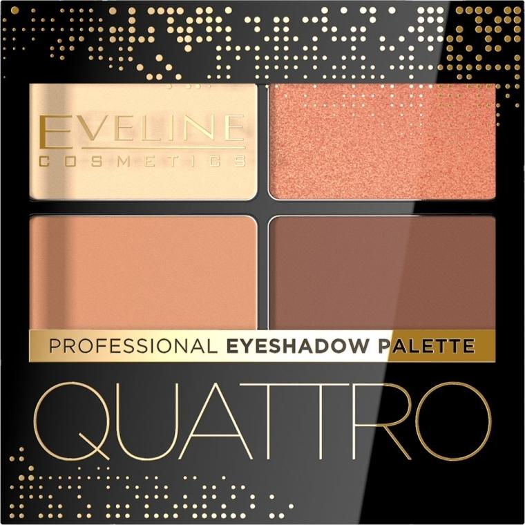 Тени для век - Eveline Cosmetics Quattro Professional Eyeshadow Palette