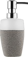 Духи, Парфюмерия, косметика Дозатор для мыла, серо-белый - Bisk Stone