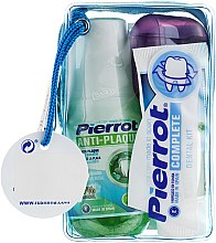 Духи, Парфюмерия, косметика Набор дорожный, голубой - Pierrot Compact Dental Kit (m/wash/60ml+tpst/25ml+floss/30м.+tbrsh/1шт.)