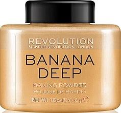 Духи, Парфюмерия, косметика Пудра для лица - Makeup Revolution Banana Deep Baking Powder