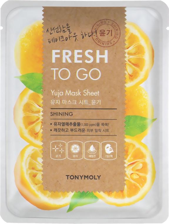 Тканевая маска с цитрусом юдзу для сияния кожи - Tony Moly Fresh To Go Mask Sheet Yuja