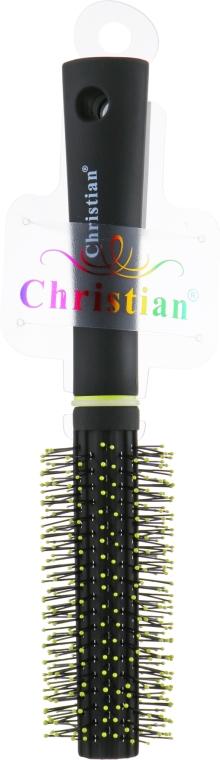 Гребінець для волосся, CR-4203, салатово-чорний - Christian — фото N1