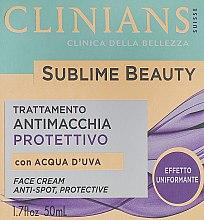 Духи, Парфюмерия, косметика Крем защитный, выравнивающий цвет лица, с виноградной водой - Clinians Sublime Beauty Antimacchia Protettivo Face Cream